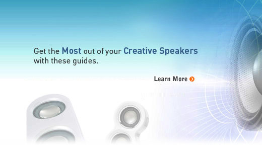 Your comprehensive guide to getting the best out of your Creative speakers.