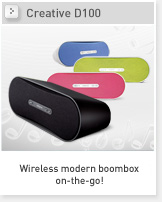 Creative D100 - Wireless boombox on-the-go!